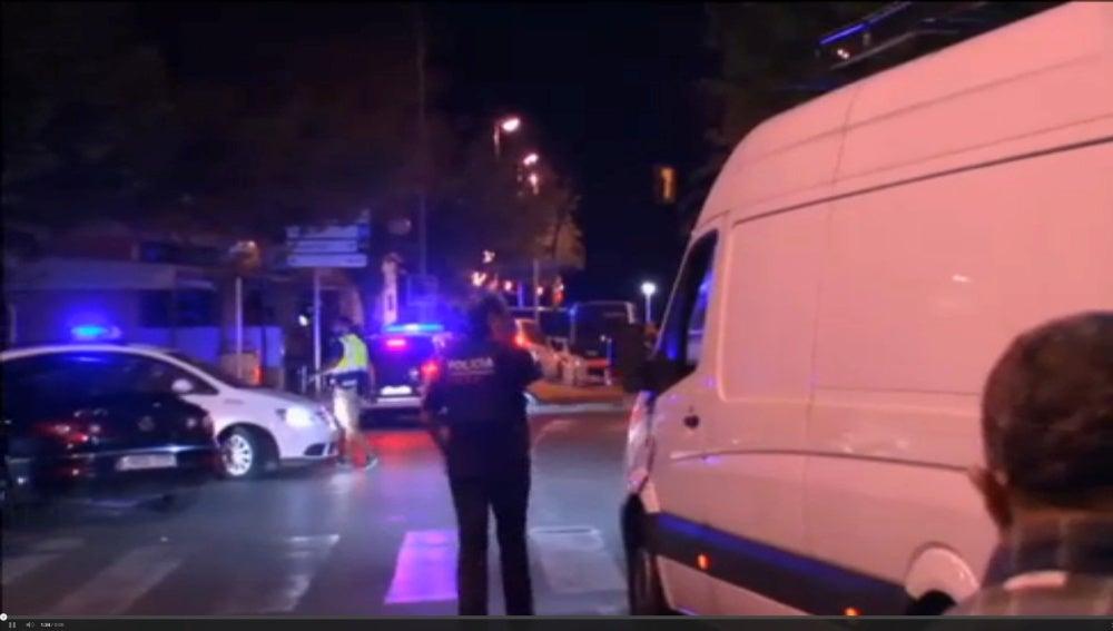 Las autoridades policiales, en Cambrils