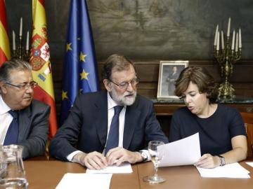 Mariano Rajoy, Juan Ignacio Zoido y Soraya Sáenz de Santamaría