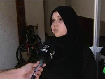 Salima, mujer de uno de los detenidos