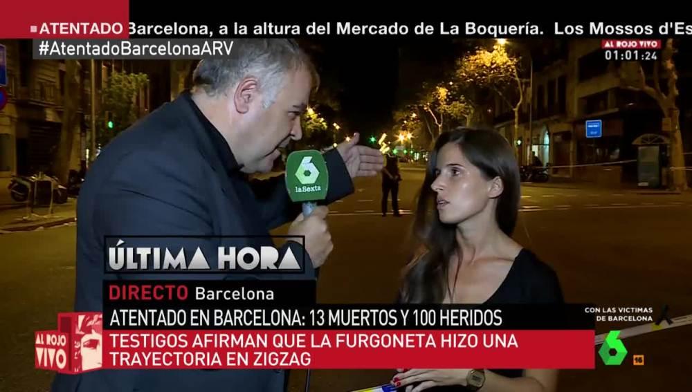 Ferreras entrevista a una vecina de Barcelona tras el atentado