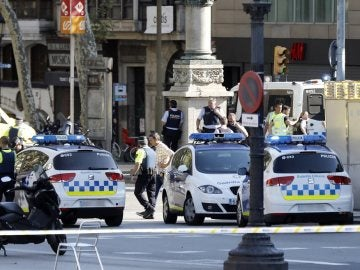Dispositivo de los Mossos en Barcelona