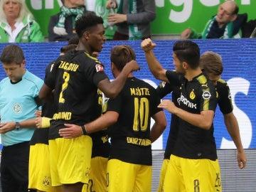 El Borussia Dortmund celebra un gol