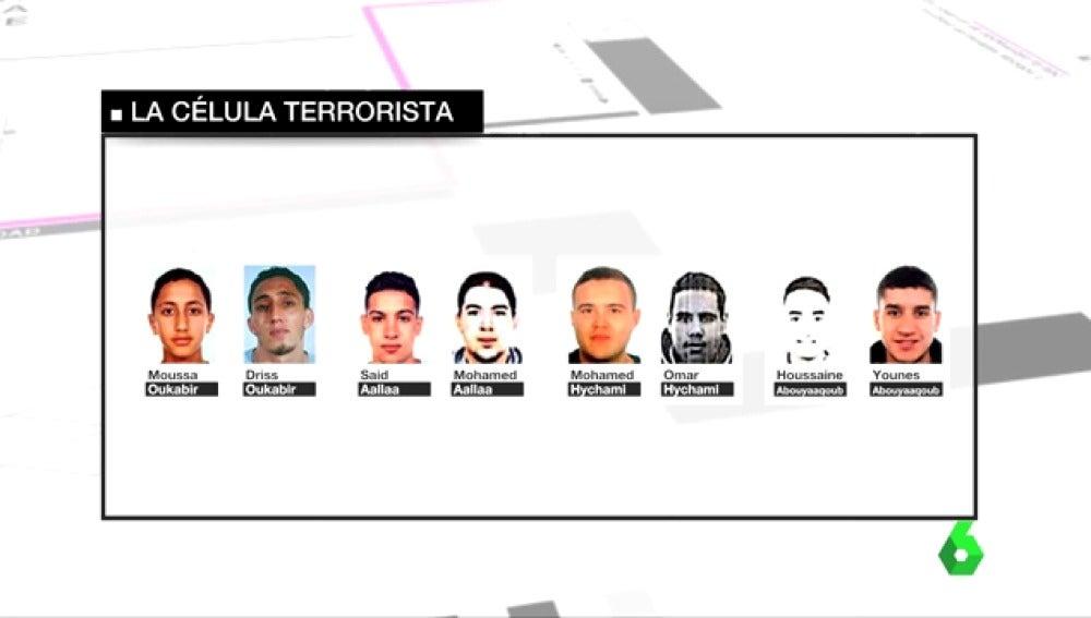 Las cuatro parejas de hermanos que forman parte de la célula terrorista
