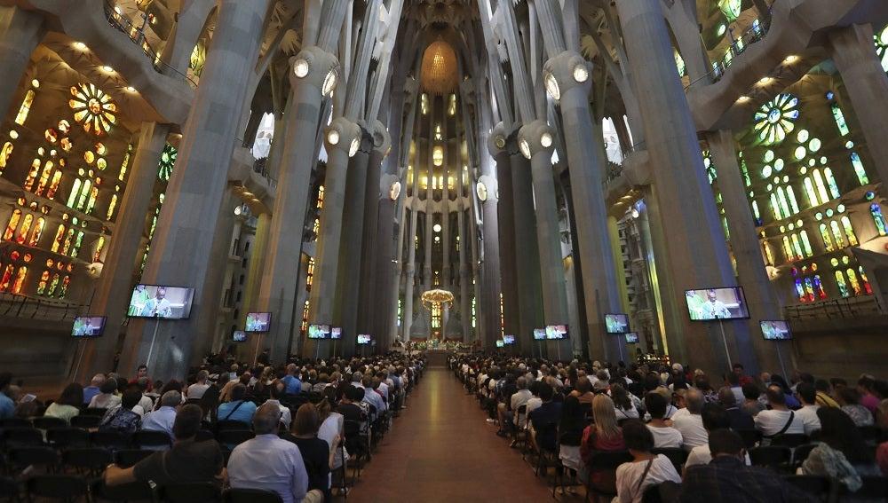 Vista general de la basílica de la Sagrada Familia