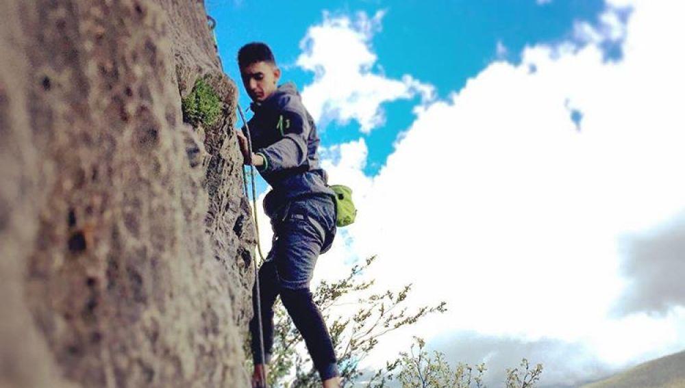 Una imagen de Houssaine Abouyaaqoub realizando escalada antes de los atentados