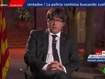 El presidente de la Generalitat Carles Puigdemont en El Objetivo