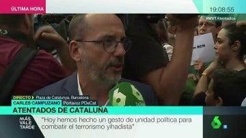 """Campuzano, portavoz del PDCAT: """"Hacemos un gesto de unidad política para combatir el terrorismo yihadista"""""""