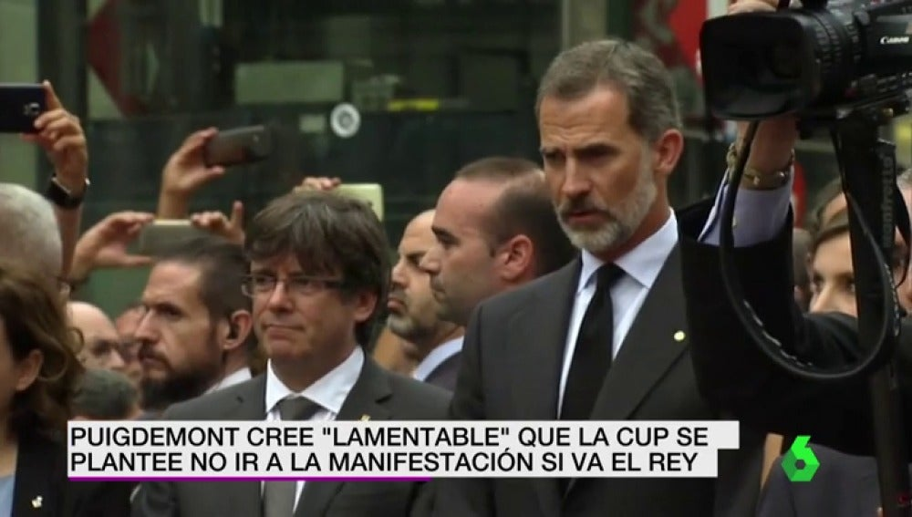 Felipe VI y Puigdemont