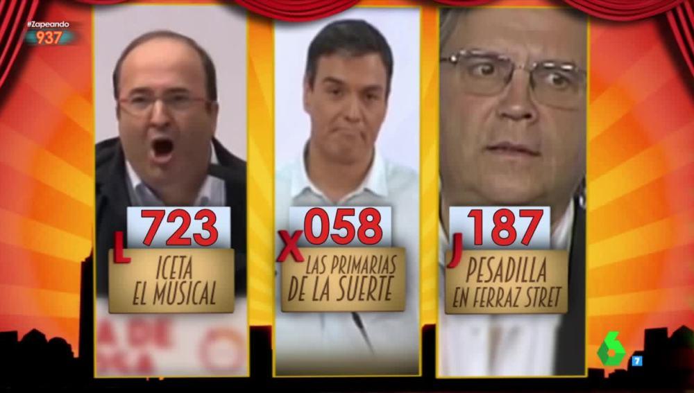 Iceta, el musical', ganador por goleada del Premio Zapeando al 'mejor vídeo manipulado'