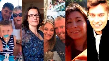 Víctimas de los atentados en Cataluña