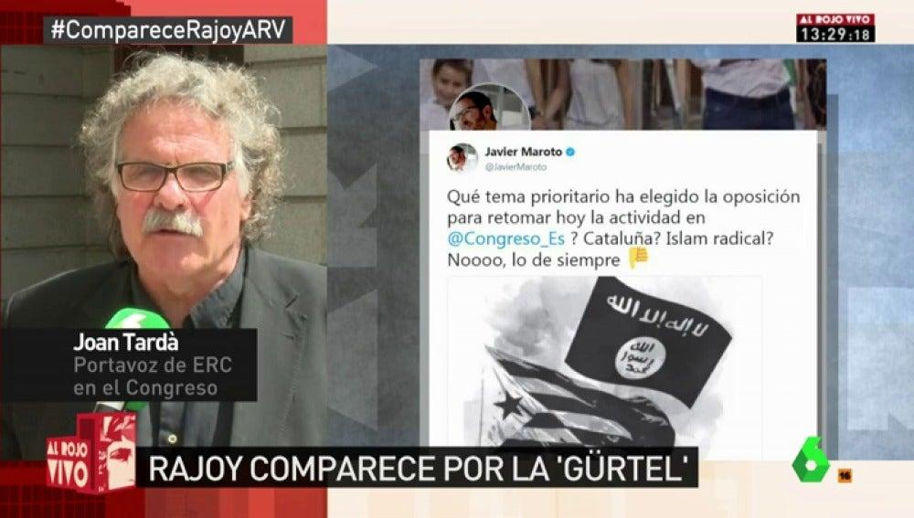 El portavoz de ERC Joan Tardà