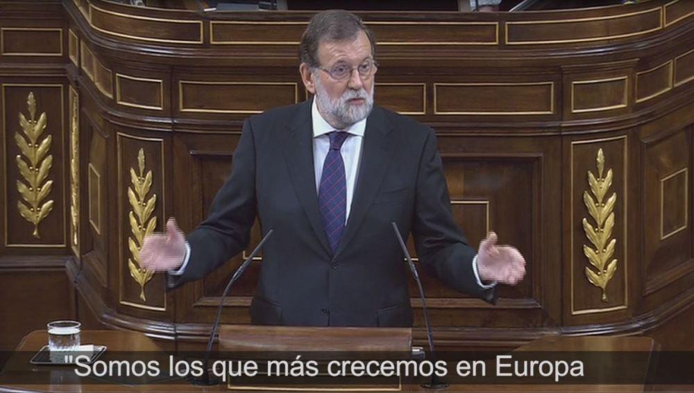 Rajoy interviene en el Congreso de los Diputados.