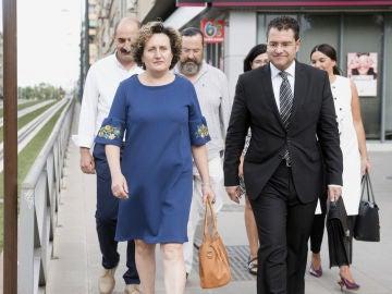 La asesora judicial Paqui Granados a su llegada a los juzgados de Granada