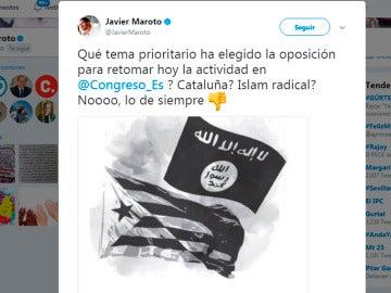 Un tuit de Javier Maroto desata la polémica en las redes sociales