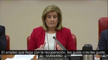 """Báñez: """"El empleo de la recuperación es de mayor calidad que el que se fue con la crisis"""""""