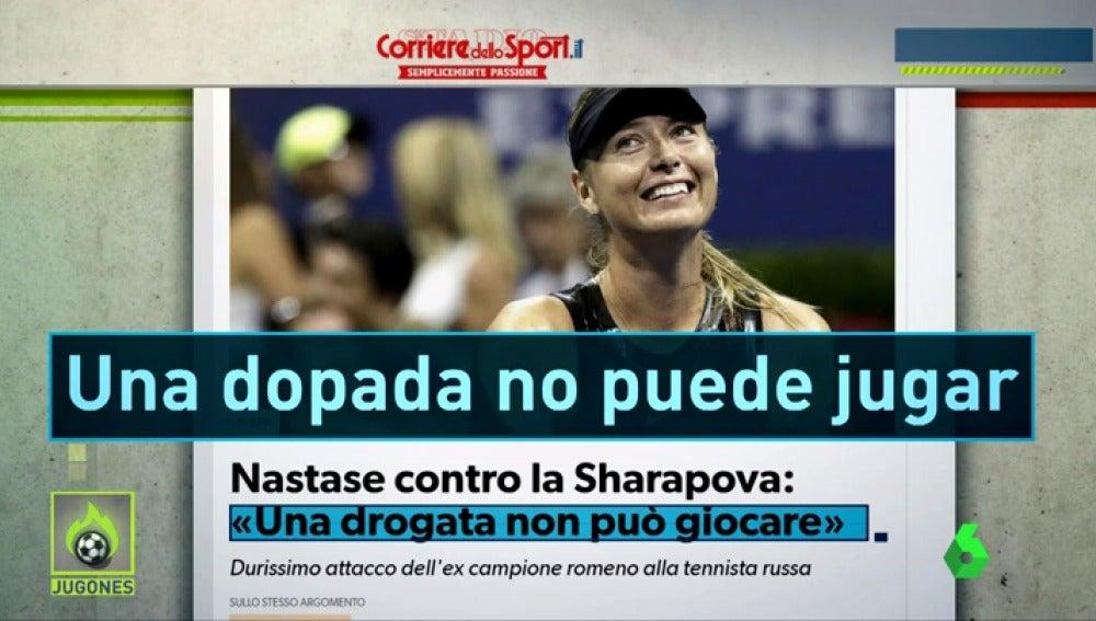 """""""Una dopada no puede jugar"""": duras críticas a Sharapova tras su regreso en el US Open"""
