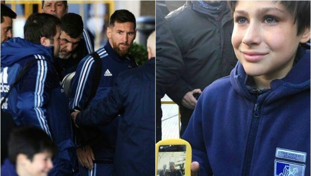 Leo Messi en Montevideo