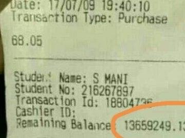 Extracto bancario de una joven que recibió una beca por error