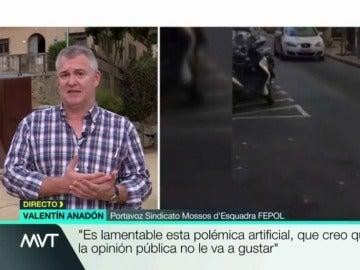 Valentín Anadón, portavoz del Sindicato de los Mossos FEPOL