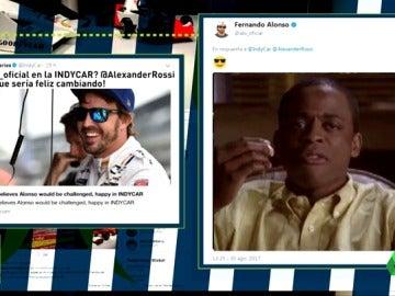 ¿Fernando Alonso a la Indy en 2018? El enigmático mensaje del piloto español en Twitter