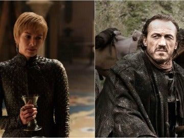 Cersei Lannister y Bronn en Juego de Tronos