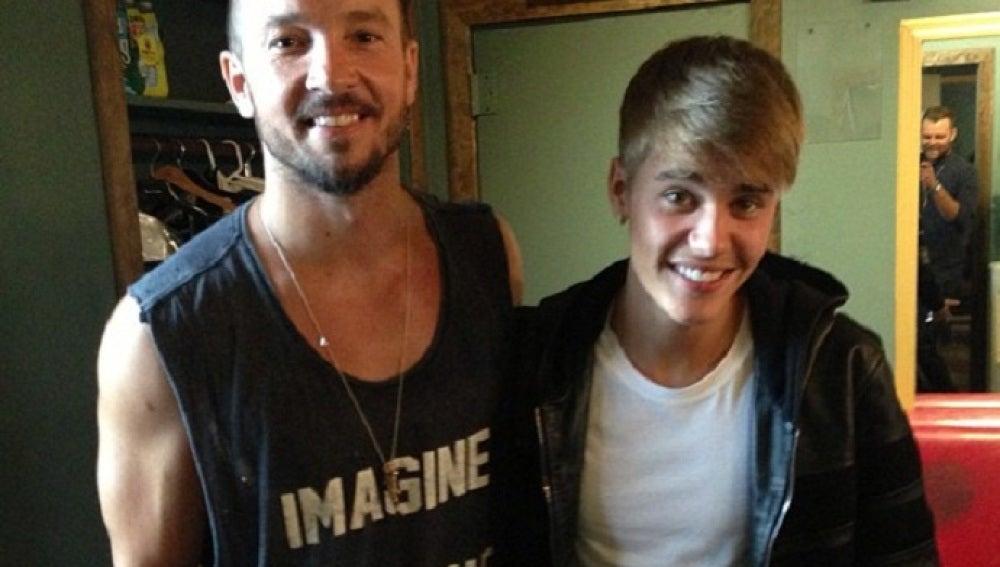 Justin Bieber con el pastor de la Hillsong