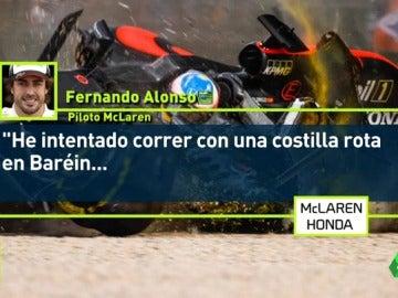"""Fernando Alonso niega que se retirara a propósito en Spa: """"He intentado correr hasta con una costilla rota..."""""""