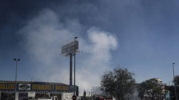 El incendio de 40 toneladas de virutas de magnesio y aluminio en Fuenlabrada