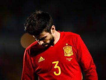 Gerard Piqué, en un partido con la selección española de fútbol