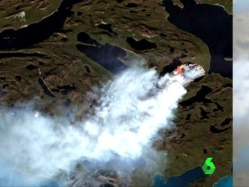 Incendio en Groenlandia