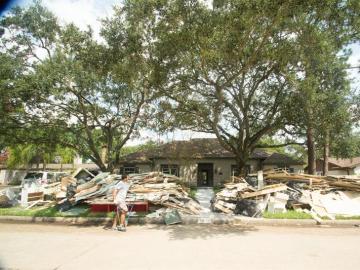 Destrozos del huracán Harvey