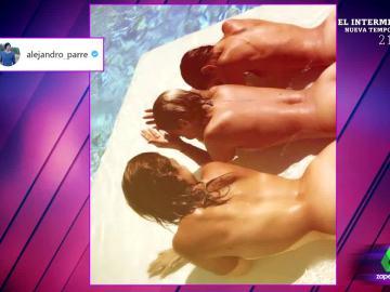 Chenoa, Geno y Nuria Fergó calientan las redes sociales con una foto desnudas en la piscina