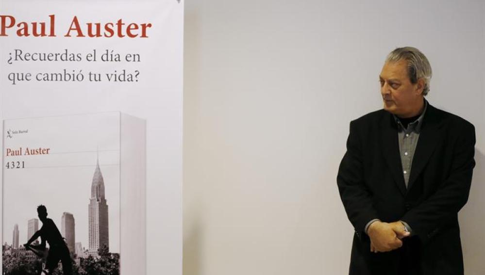 Auster, en la presentación de su nuevo libro