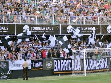 Los aficionados del Castellón animan a sus jugadores
