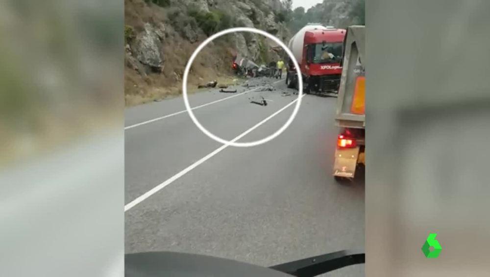 Imagen del accidente mortal en Pancorbo
