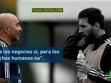 Polémica en Argentina por una supuesta discusión política entre Sampaoli y Messi