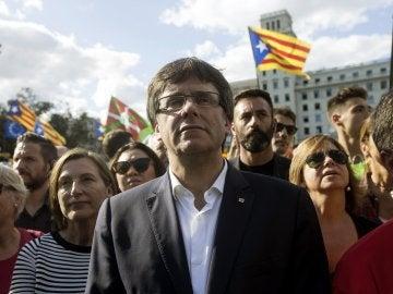 Carles Puigdemont, en la Diada 2017