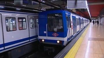 Un vagón del metro de Madrid