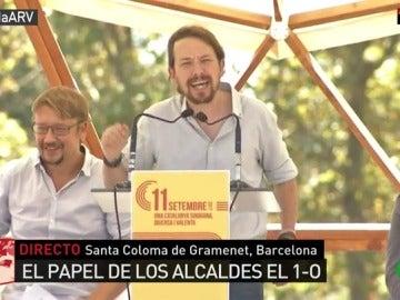 """Pablo Iglesias: """"Sánchez ganó diciendo que España es una país plurinacional y los militantes estaban de acuerdo con nosotros"""""""