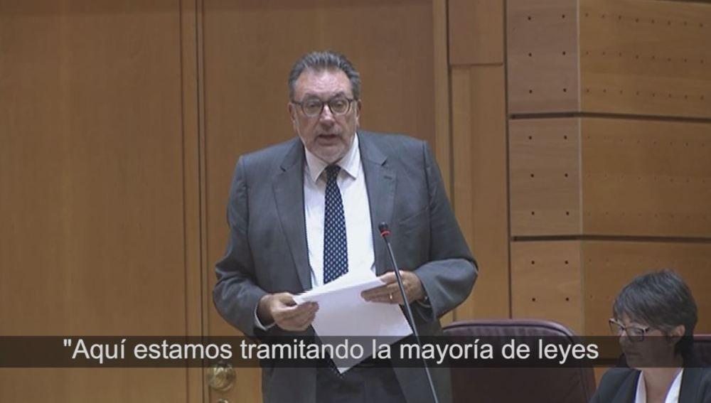 Josep Lluís Cleries, del PdeCat, en el Senado.