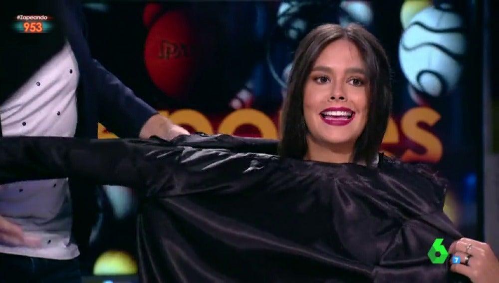 """Cristina Pedroche la lía al convertirse en la jueza de Zapeando: """"Quédate con las cosas en los ensayos ¡qué vergüenza!"""""""