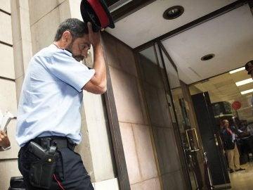 El major de los Mossos a su llegada a la reunión con la Fiscalía