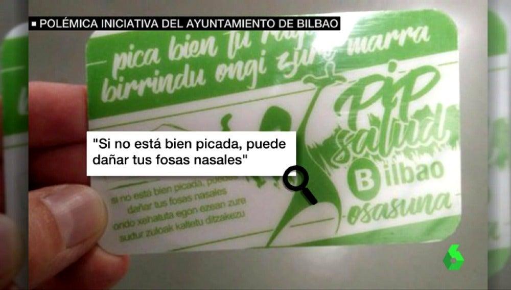'Pica bien tu raya', polémica iniciativa del Ayuntamiento de Bilbao