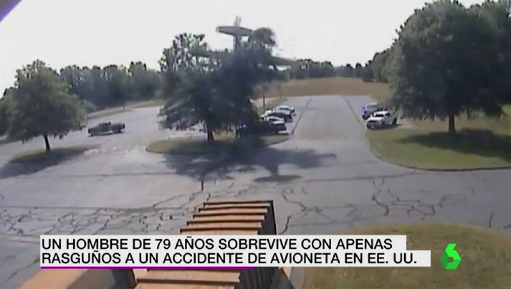 Un hombre de 79 años sobrevive con apenas rasguños a un accidente de avioneta en Estados Unidos