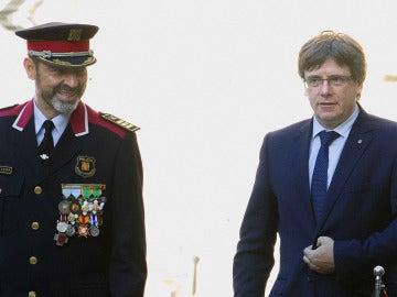 Josep Lluís Trapero y Carles Puigdemont