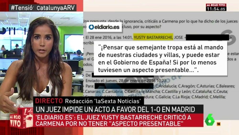 El juez Yusty Bastarreche criticó a la alcaldesa Manuela Carmena en un foro por su aspecto físico