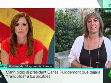 La alcaldesa de L'Hospitalet de Llobregat, Núria Marín