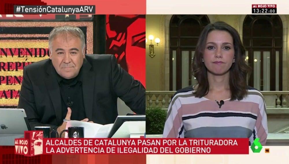 La portavoz de Ciudadanos Inés Arrimadas