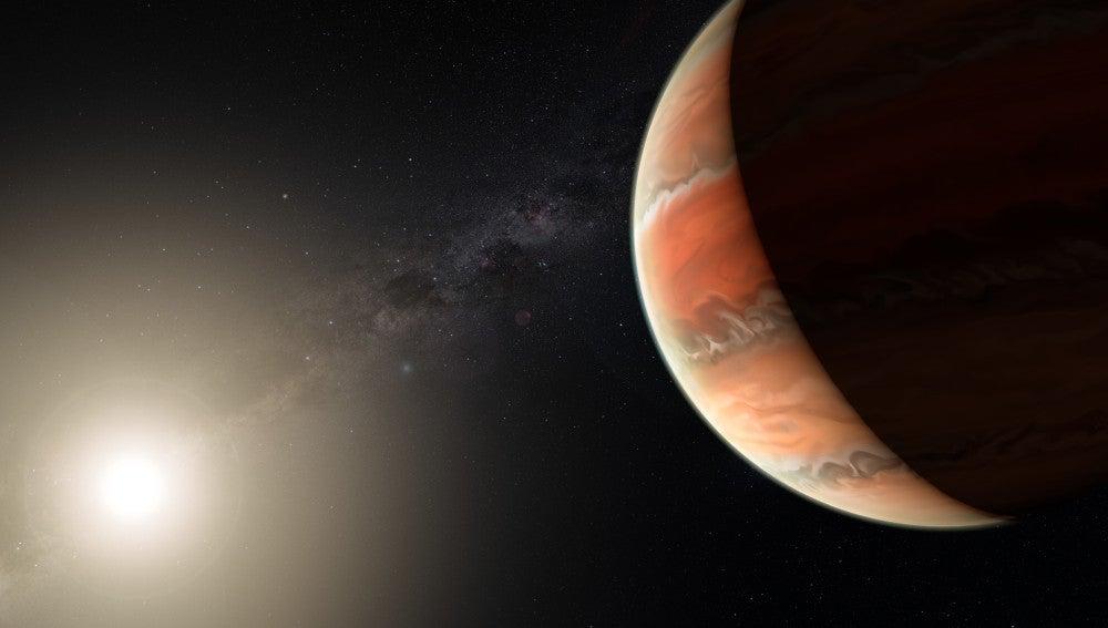 Primera deteccion de oxido de titanio en la atmosfera de un exoplaneta