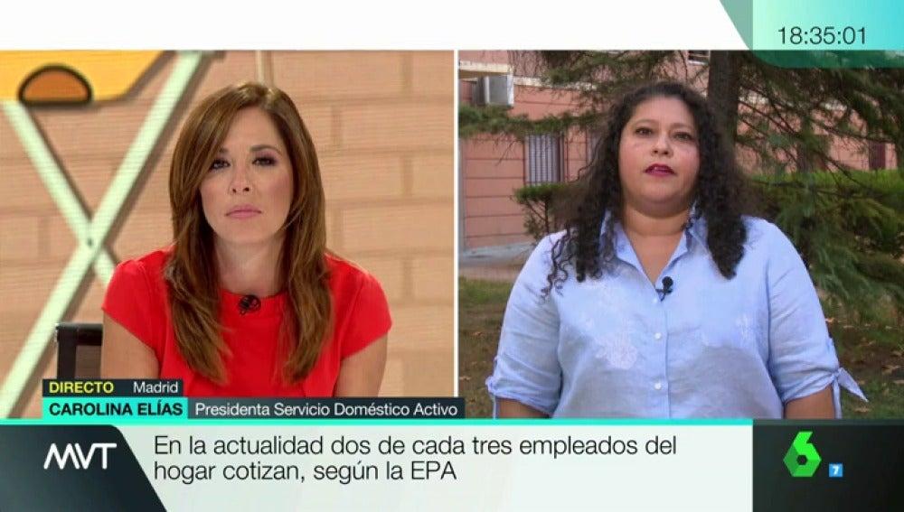Carolina Elías, presidenta Servicio Doméstico Activo